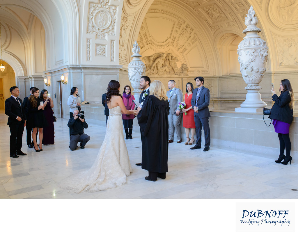 north gallery wedding ceremony San Francisco City Hall