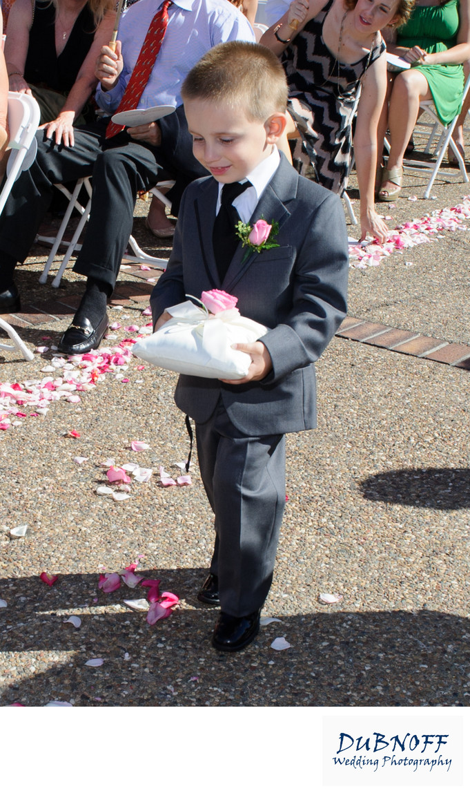 ring bearer at a Blackhawk Country Club Wedding