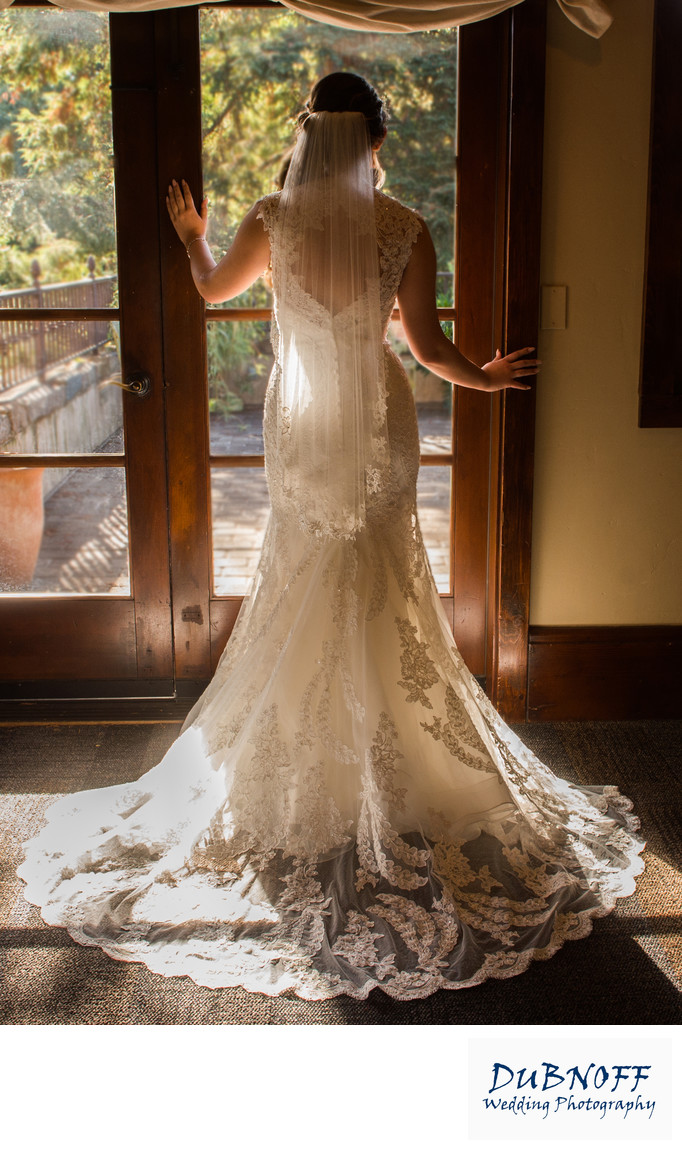 Bay Area Bride Poses in Front of Window with Beautiful light