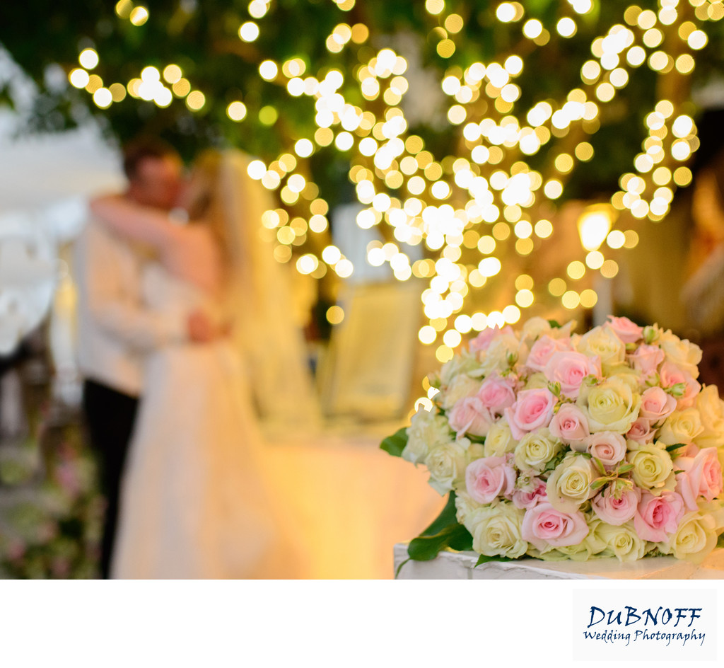 affordable wedding flowers in front photo in focus