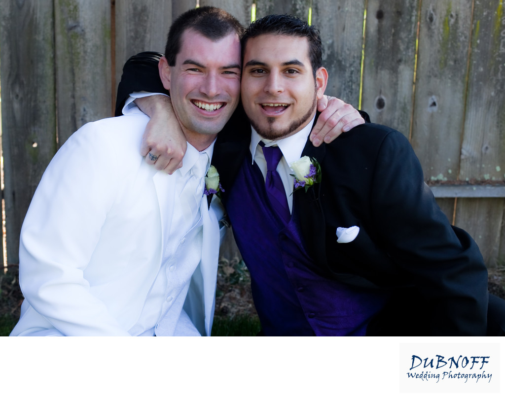 Wedding Photography Image of the Best Man and the Groom