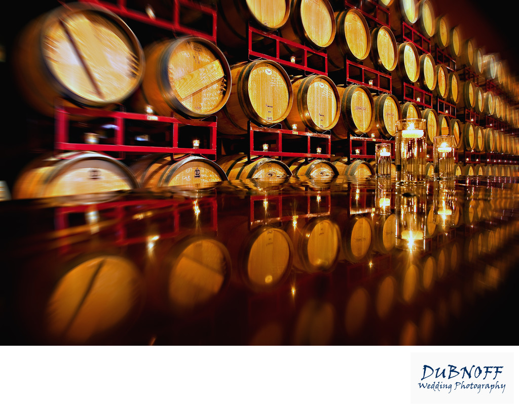 Cellar Barrels at the Palm Event Center in the Livermore Wine Country
