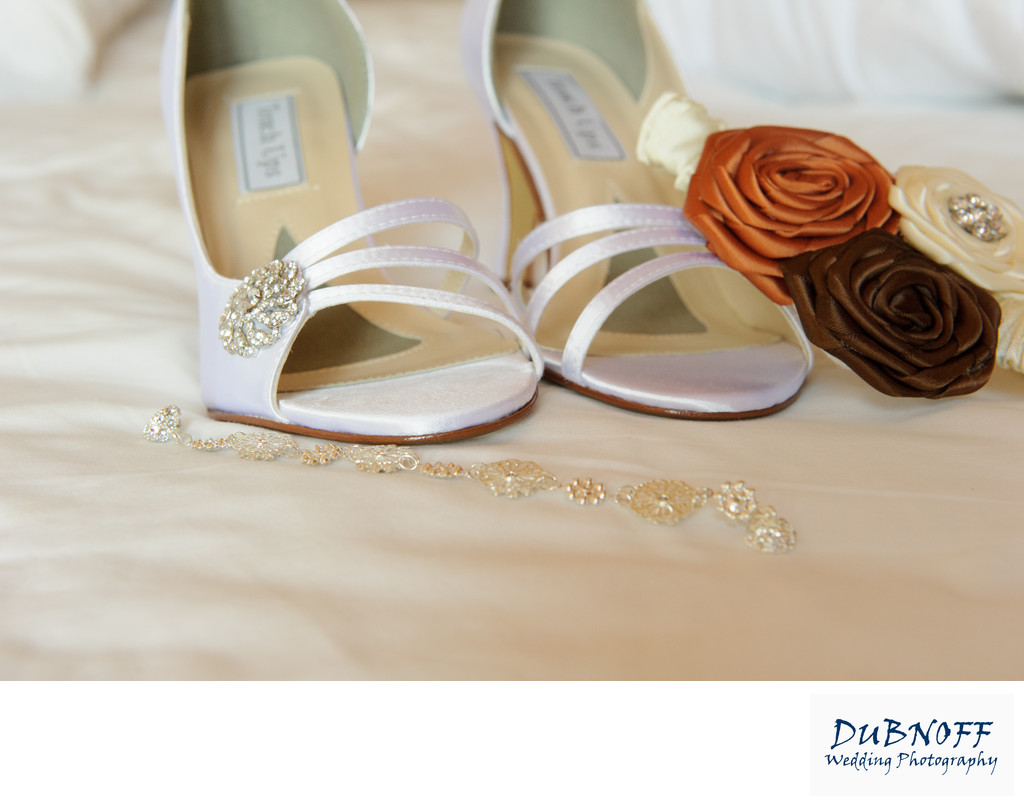bridal shoes at this San Francisco Bay Area Wedding