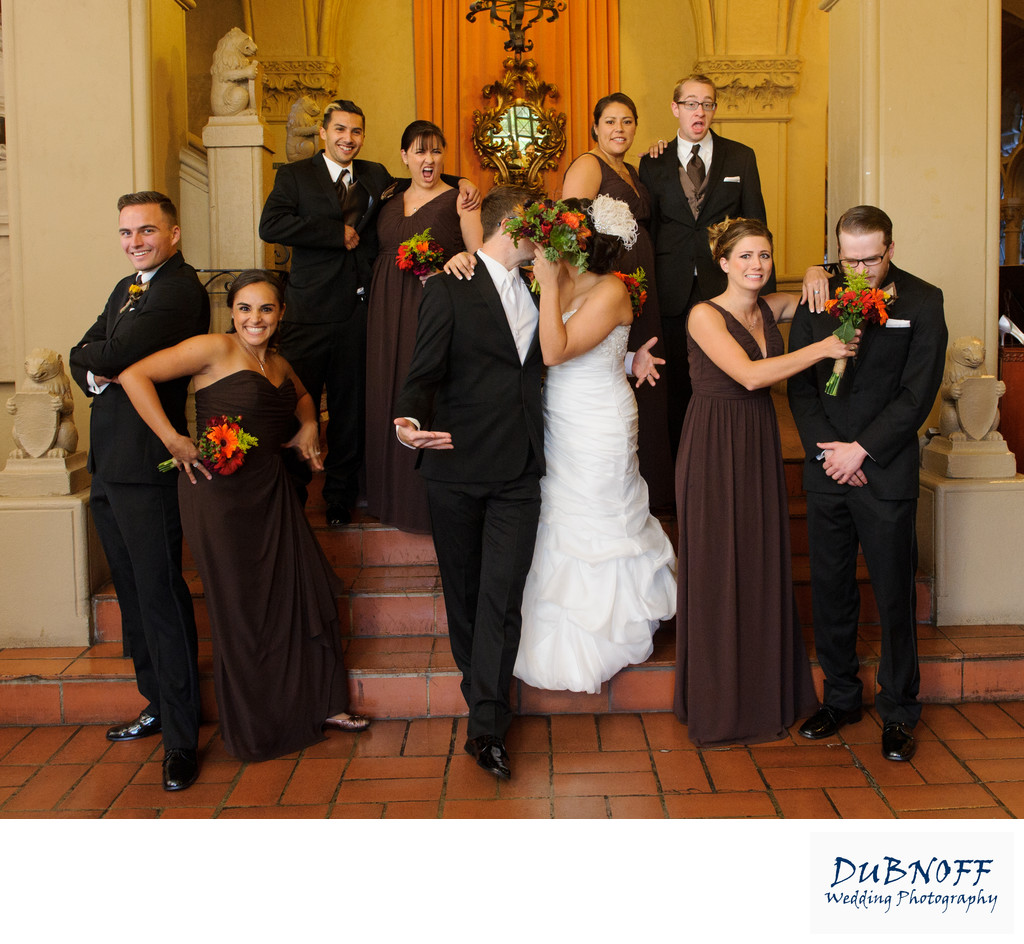Funny Wedding Party Photography at the Berkeley City Club