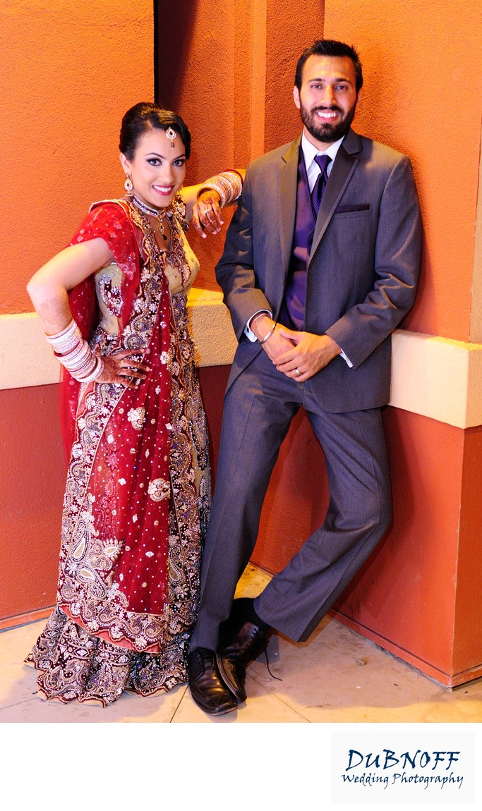 Indian Bride and Groom after their San Francisco Wedding