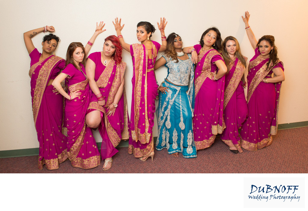 Bridesmaids Movie fun - San Francisco Indian Wedding Photography