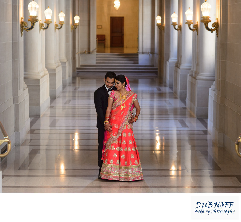 Formal Indian wedding  at San Francisco City Hall -  Hallway Image