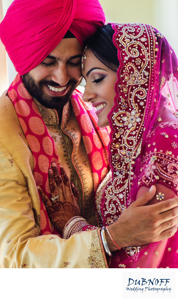 romantic indian wedding photo