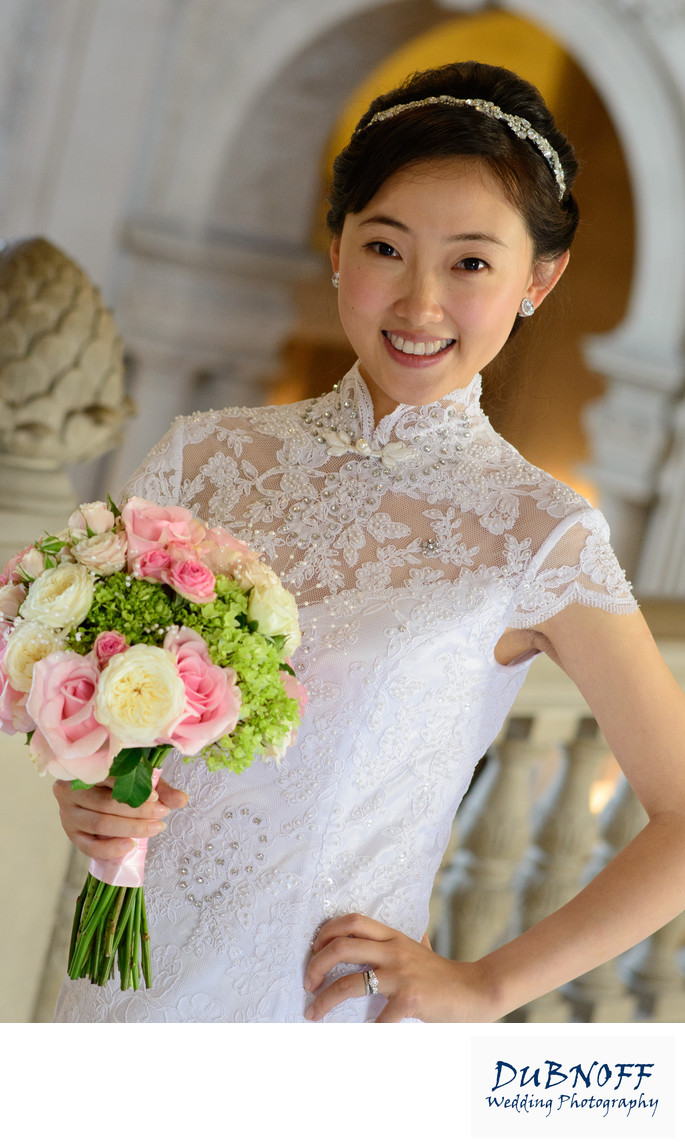Asian Bride Bouquet With Natural Frame