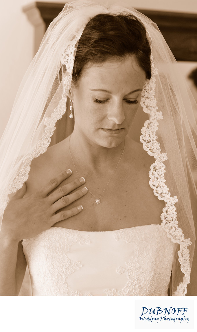 Sepia Tone Bridal Wedding Photography in Walnut Creek, CA