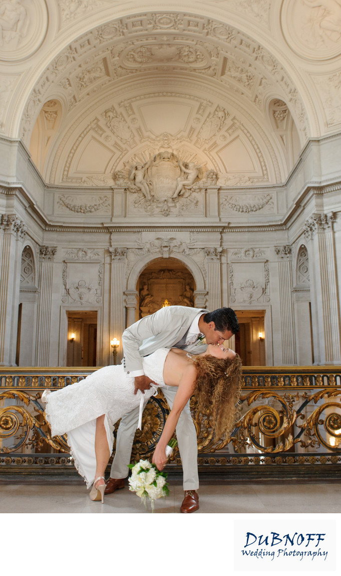 San Francisco City Hall Wedding Photographer - Romantic Image