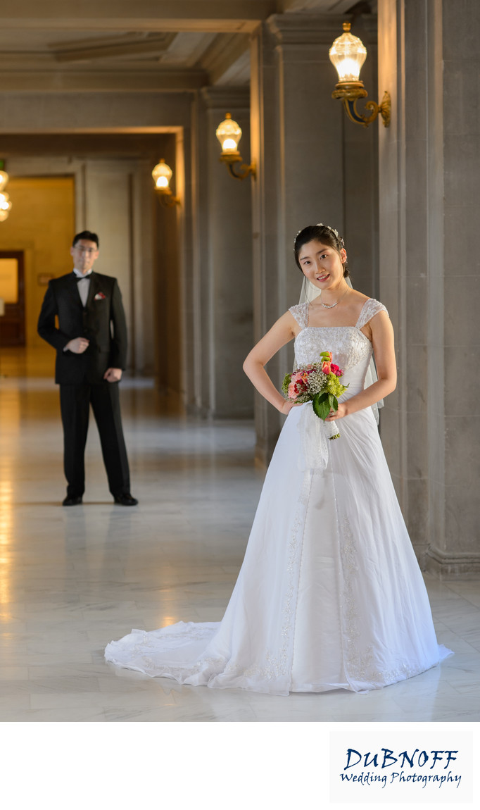 San Francisco City Hall Wedding Photographers - Groom and Bride