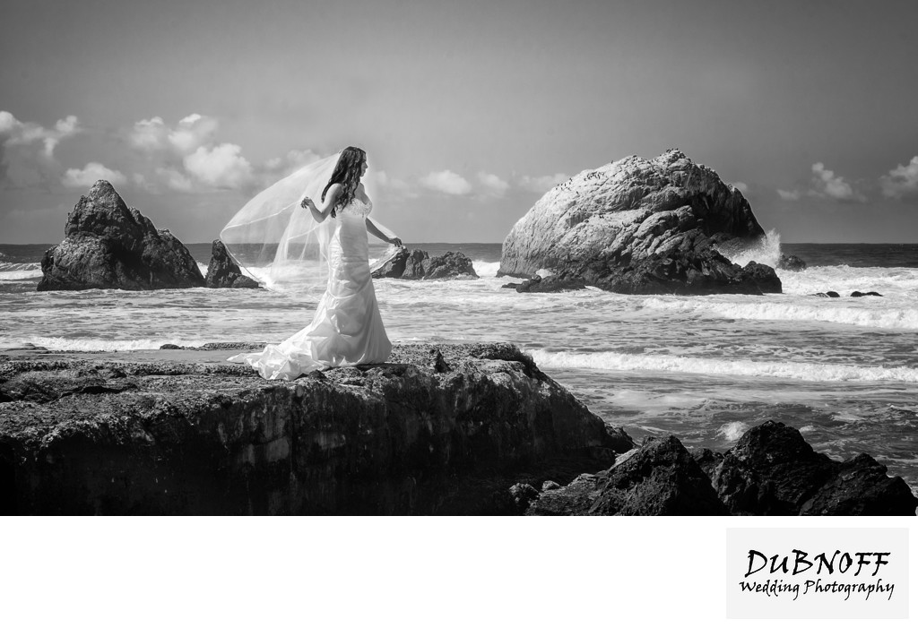 San Francisco City Hall Wedding Photographers - Sutro Baths