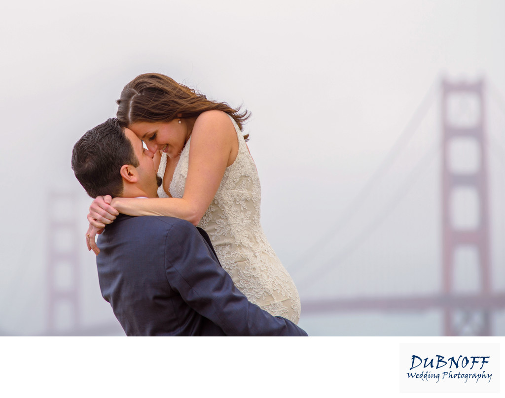 San Francisco City Hall Wedding Photographers - Golden Gate Fog