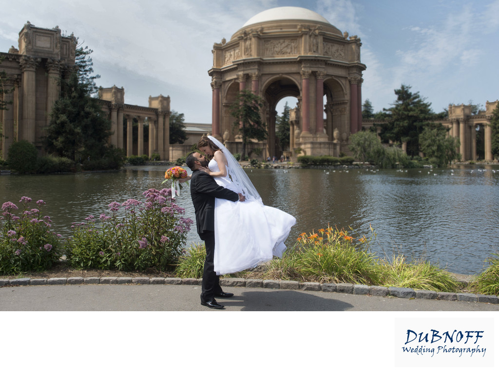 San Francisco City Hall Wedding Photographers - Palace of Fine Arts