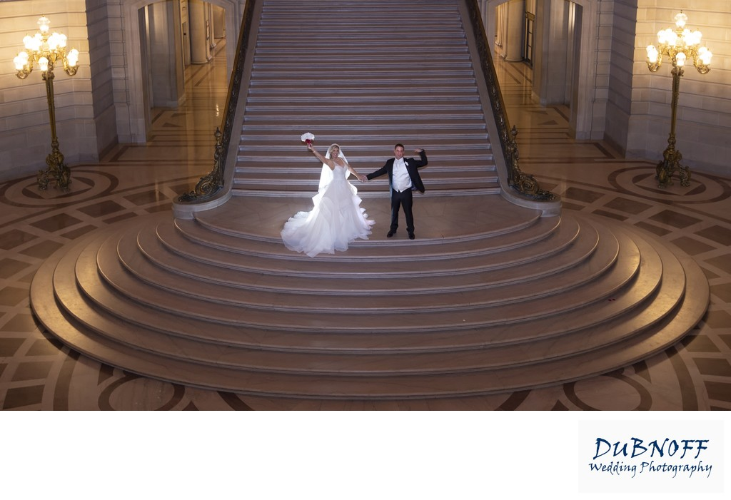San Francisco City Hall Wedding Photographer - Early Evening