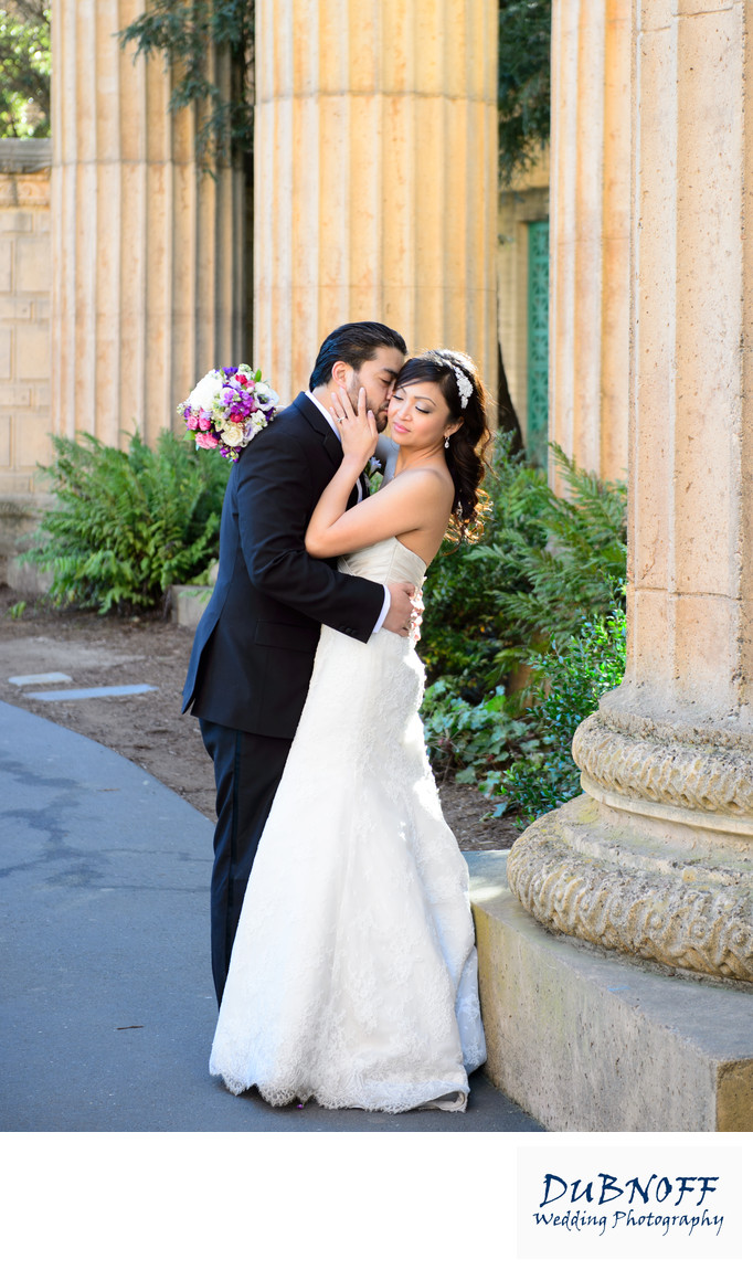 Romance at Palace of Fine Arts in San Francisco - City Hall Wedding