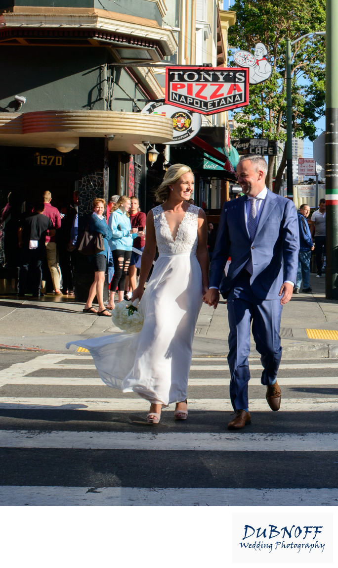Tony's Pizza in North Beach - Wedding Walk
