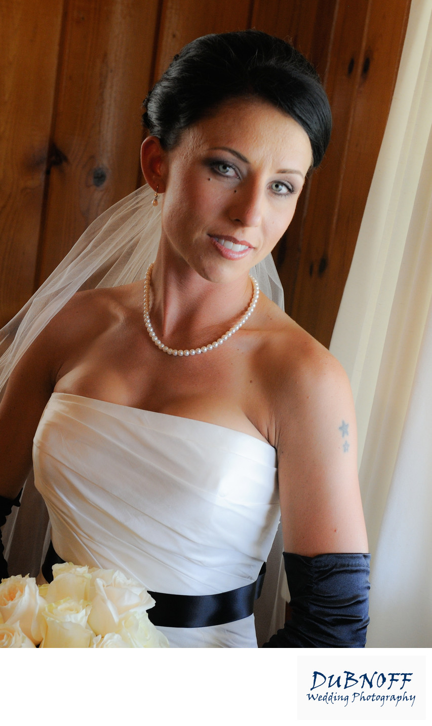 Bride in Beautiful Window Light with Rembrandt Lighting
