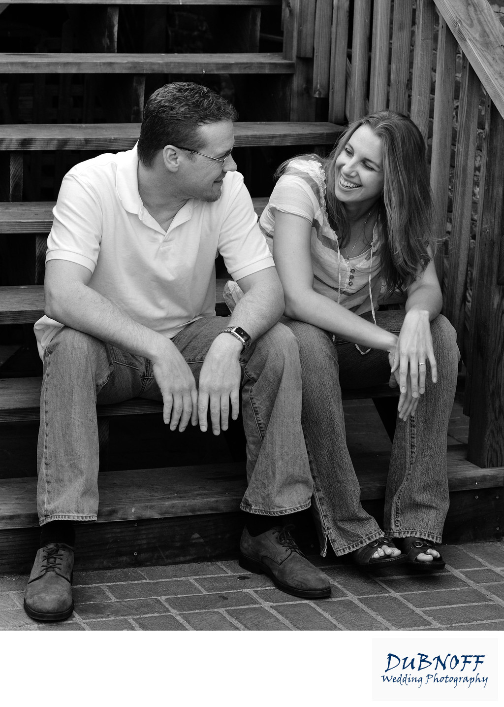 Engagement Photo Shoot in San Francisco in Black and white