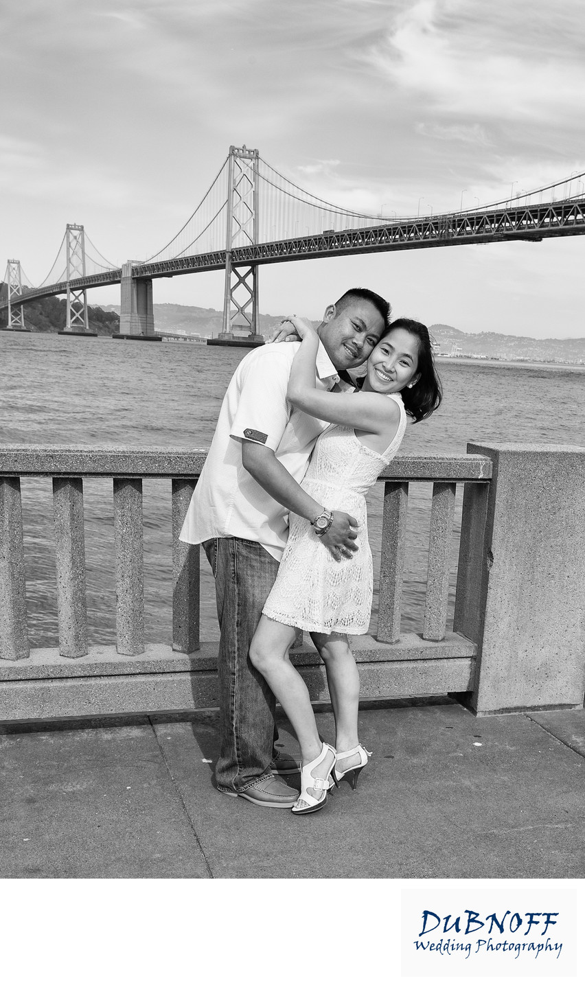 Engagement Session in San Francisco by the Bay Bridge