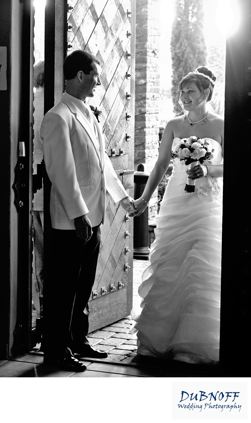 Wedding Photography at Livermore Valley Winery in black and white