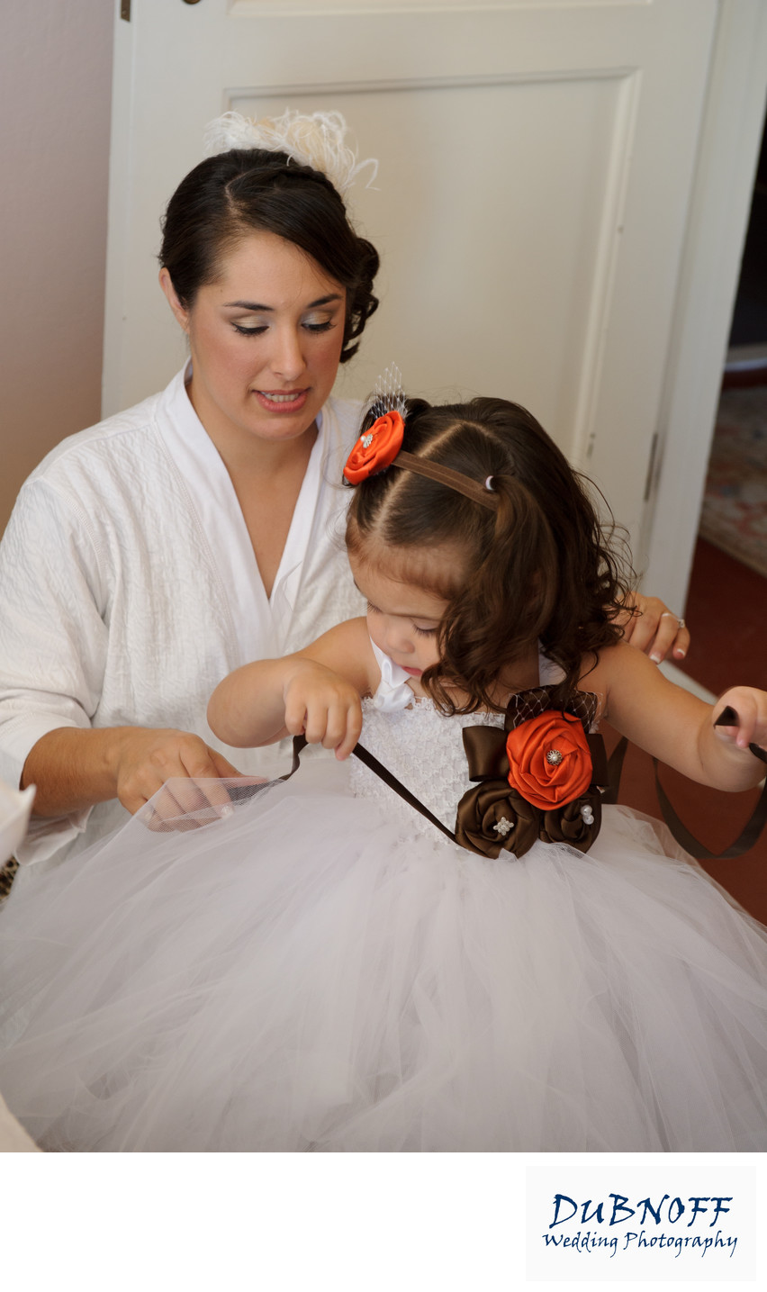 Bride and Daughter Share a Special Moment in Berkeley