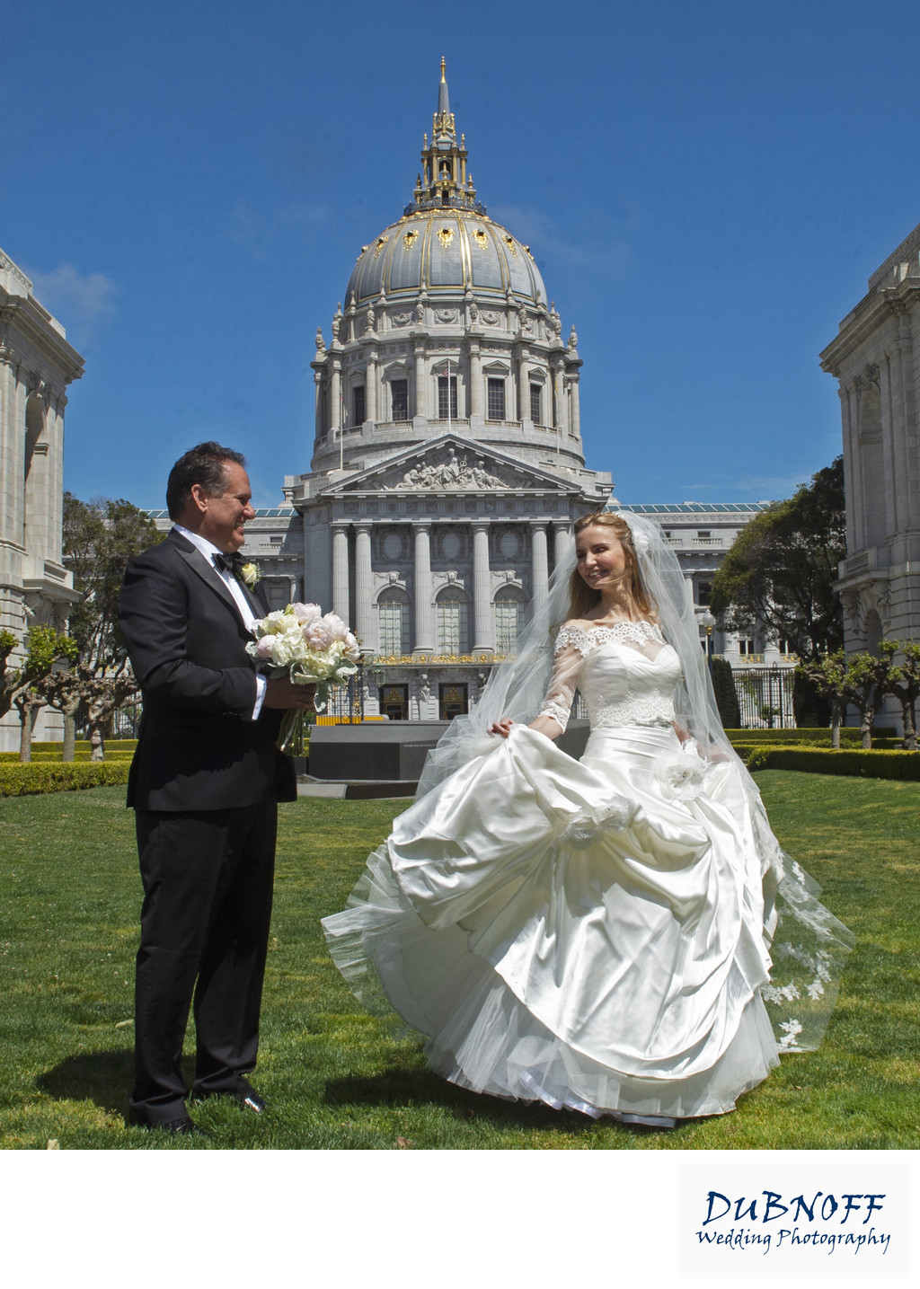 San Francisco City Hall Wedding Photographers - Spinning Bride