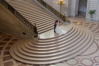 Best Angle of San Francisco City Hall Grand Staircase