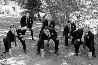 football groomsmen