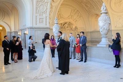 North Gallery Wedding at City Hall in San Francisco