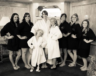 blackhawk bridesmaids in the Country Club wedding room