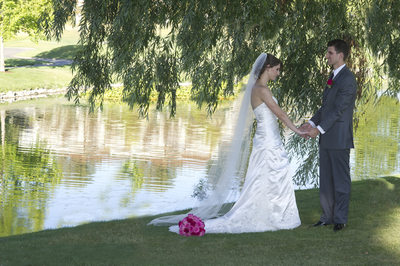 Blackhawk Wedding Photography by the Lake with Bride and Groom