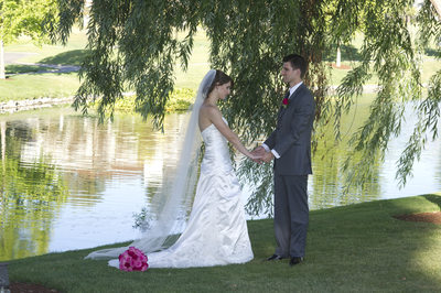 under the willow tree at the Blackhawk Golf Course