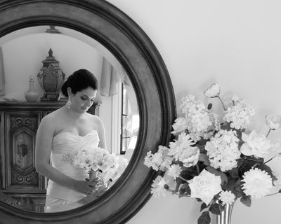 bridal mirror reflection in Walnut Creek, California