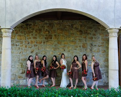 Cute Wedding Party Bridemaids in Livermore, California