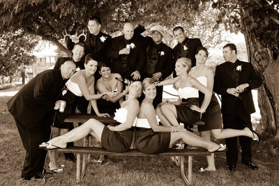 Fun San Francisco Bay Area Wedding Photography in Sepia