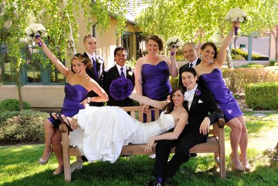 San Francisco Bay Area Fun Wedding Party Image
