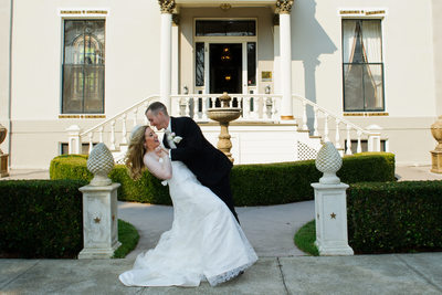 benicia mansion wedding dance dip fun pose