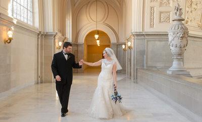 San Francisco City Hall Wedding Photographer Candid Photo