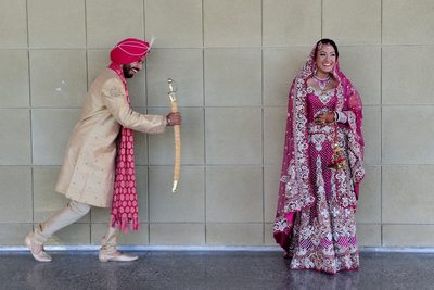 Funny Sikh Wedding Photography Image in San Francisco
