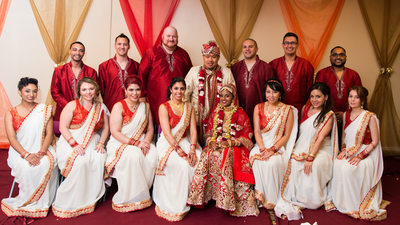 indian bridal party photo