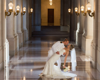 Military Wedding Dance Photography at City Hall