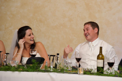 Recently Married Couple Enjoy a Funny Toast Reaction