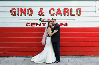 marriage at gino carlo in the North Beach area