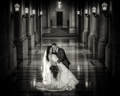 San Francisco City Hall Wedding Photographers - Hallway Image