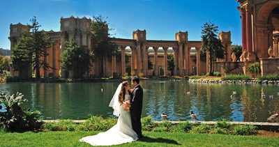 Palace of Fine Arts Wedding Photography at the Pond - City Hall