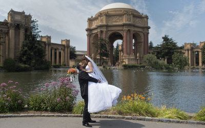 San Francisco City Hall Wedding Photography - Palace of Fine Arts