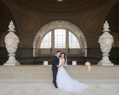 Architecture Photography in San Francisco with Newlywed Couple