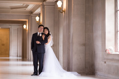 City Hall Asian Marriage in San Francisco, California